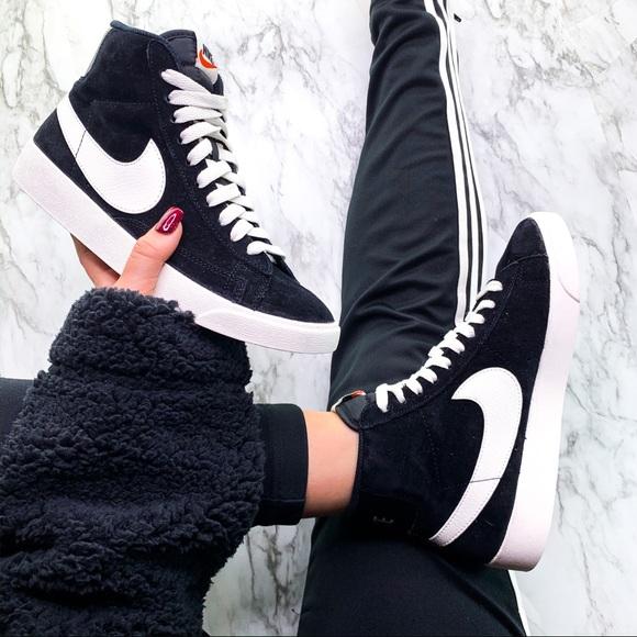 Nike Blazer Vintage Black Suede High Top Sneaker